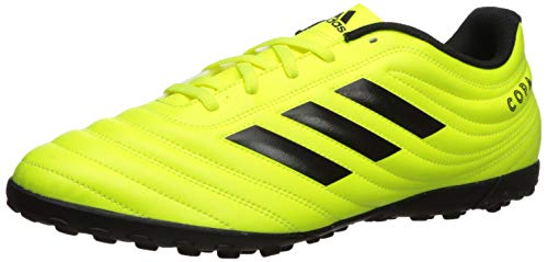 adidas Men's Copa 19.4 Turf Soccer Shoe, Black/Solar Yellow, 7 M US (Cleats 7 Adidas Soccer)