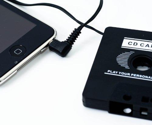 QUMOX Cassette Tape adaptador de Coche para Mp3 Ipod Nano CD Iphone