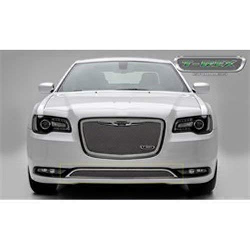 (T-Rex 55436 Polished Overlay Upper Class Bumper for Chrysler 300)