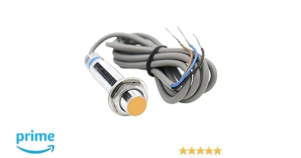 Heschen inductiva Sensor de proximidad Interruptor LJ12A3-2-Z/BY detector de 2 mm 6 - 36 VDC 300 mA PNP NO Normalmente Abierto (alambre de) 3: Amazon.es: ...