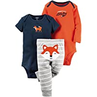 Carter's Baby Boys' 3 Pc Back Art 126g343, Fox, 3 Months