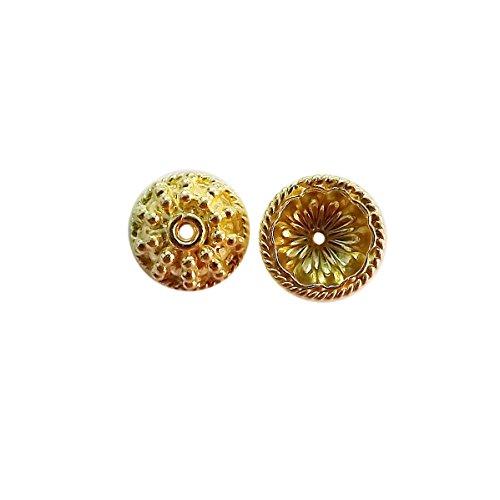 18K Gold Overlay Bead Cap CG-354-12X5MM