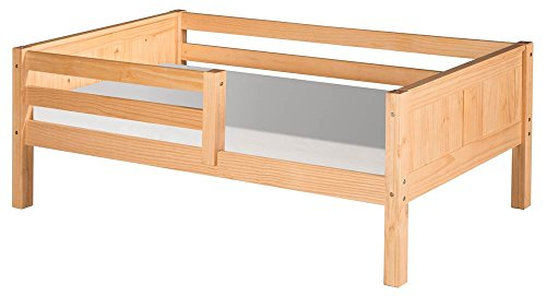 Camaflexi Panel Style Solid Wood Day Bed with Front Rail Gua