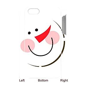 Personalized New Print Case for iphone 5c 3D, Christmas Snowman Phone Case - HL-708832
