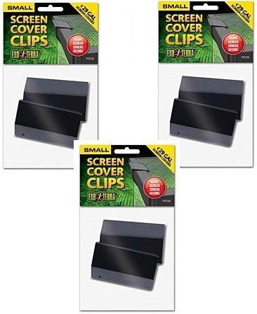 ((3 Pack) Exo Terra Terrarium Cover Clip Set, Small, 2 Clips each)