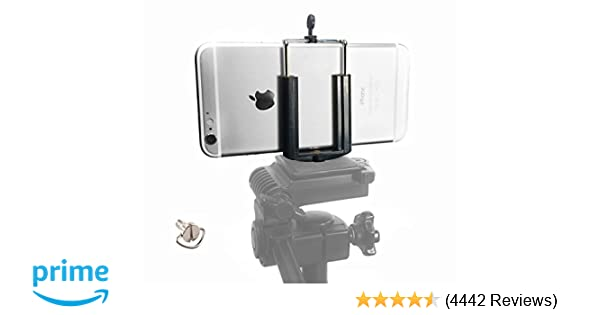 promo code a6340 e2765 DaVoice Cell Phone Tripod Adapter Mount Holder Clamp Compatible with iPhone  X XS Max XR Se 8 7 6 6s Plus Samsung Galaxy S9 S8 S7 S6 Edge Adjustable ...