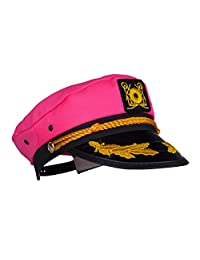 Captain Ford's Adjustable Snapback Neon and Metallic Captain Hat - Perfect for Men and Women at Parties …