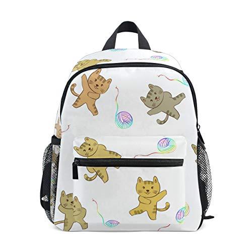 Yarn 020 (DEZIRO Cartoon Cat and Ball of Yarn Basic Multipurpose Backpacks Kid's School Pack)