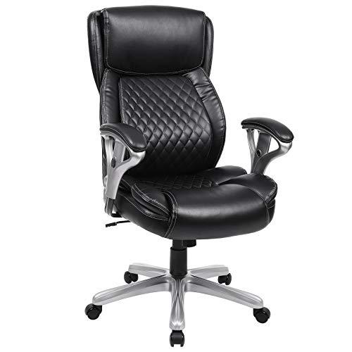 - SONGMICS Executive Office Chair, Luxurious Ergonomic Chair, High Back Ergonomic Chair, Adjustable Armrests, Lumbar Support, Lattice Pattern Swivel Chair Design, Maximum Load Capacity: 150kg UOBG95BK