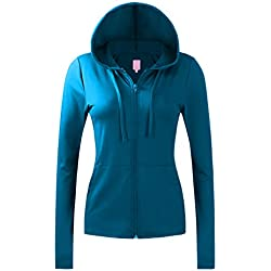 Regna X NO Bother Women's Sports Slim fit Soft Fitness Full Zip up Hoodie Jacket