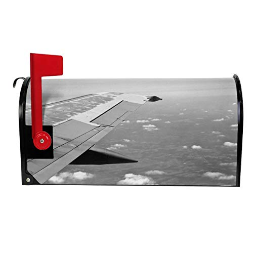 SANCR Flying Aeroplane Wing Magnetic Mailbox Cover,Double-Sided Printing,Vinyl,Size 18