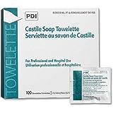 "PDI D41900 Castile Soap Towelette 7.7""x5"" Individually Wrapped 100/bx Sold Per Box"