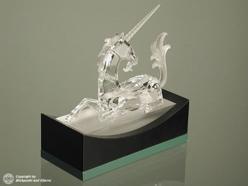 - Swarovski Unicorn Fabulous Creatures Series SCS 1996 Limited Edition Crystal Figurine with Box and Certificate Mint Condition