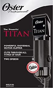 Oster Professional The Powerful Titan 76076-310 Two Speed Clipper with Blade Size