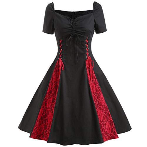Caopixx Dress for Women's Elegant Classy V-Neck Audrey