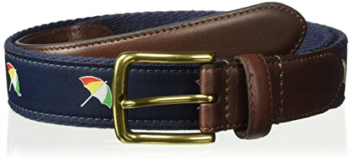Arnold Palmer Men's Embroidered Logo Web Golf Belt, Navy, 38