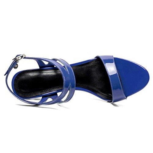 Blue 7 5cm Talon Femmes Aiguille Coolcept À Sandales qx6YZPWwX