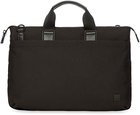One Size Black Knomo Luggage Brompton Oxberry Briefcase 15.6-inch