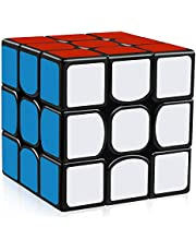 Third-order Rubik's Cube Children's Intelligence Development Early Learning Toys Speed Cube 3x3 Smooth Magic Cube Puzzles 56 mm ,Suitable for children, Rubik's beginners or professional players(Black)