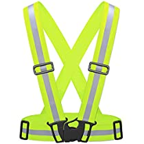 55Sport hohe Sichtbarkeit Reflektierende Sicherheit Weste Large/X-Large gelb