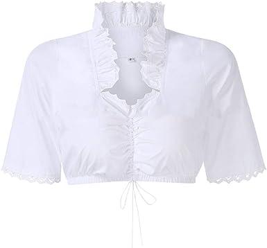 ACHICOO Top de camisa de manga corta blanca estilo Bavaria para mujer, para el Oktoberfest Estilo de vida creativo: Amazon.es: Ropa y accesorios