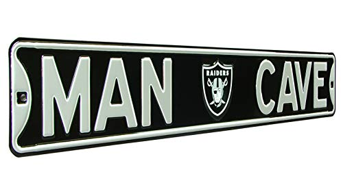 - Fremont Die NFL, MAN CAVE, Officially Licensed, REAL 3 Foot, Premium Grade Solid SteelEmbossed STREET SIGN- Prime Wall Decor for Home, Office, Garage- Perfect Gift for Him!!