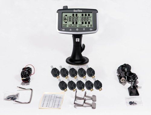 EEZTire Tire Pressure Monitoring System - 10 Flow-Through Sensors (TPMS) - FREE U.S. SHIPPING AT CHECK OUT