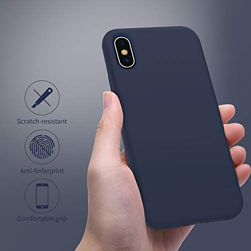 for iPhone X Case, OTOFLY [Silky and Soft Touch Series] Premium Soft Silicone Rubber Full-Body Protective Bumper Case…