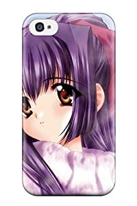 Tpu Shockproof/dirt-proof Anime Girls 23 Cover Case For Iphone(4/4s)