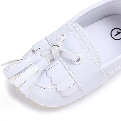Lanhui Newborn Leather Crib Soft Sole Shoe Sneakers Baby Shoes Boy Girl Shoes White by Lanhui (Image #3)