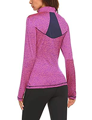 Pinspark Women Long Sleeve Stretch Thumb Hole Workout Sports Active Track Jacket
