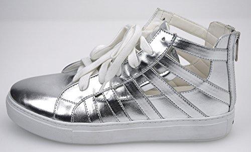 Pelle Scarpa 1h207y Y23h Pinko Donna Art 1 Sneaker Giada Argento Silver w6BCHq