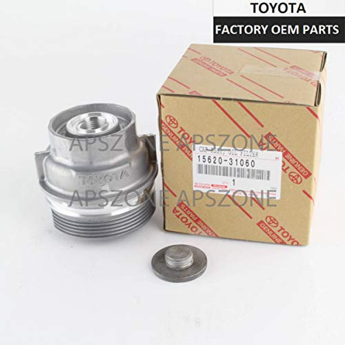Genuine OEM Toyota New Oil Filter Housing Cap + Plug 15620-31060 15643-31050
