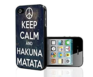 Keep Calm Hakuna Matata Hard Snap on Phone Case (iPhone 4/4s)