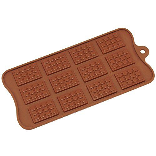 Freshware CB 615BR 12 Cavity Rectangle Chocolate