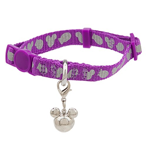 Mice Reflective Collar - D8 Disney Parks Tails - Mickey Mouse Icon Reflective Cat Collar - Purple - One Size