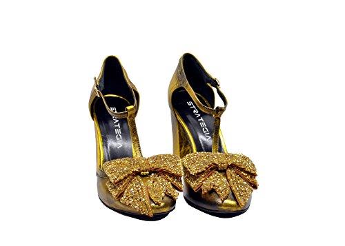 Les Femmes Strategia Pe4975spritz Cuir Jaune Chaussures À Talons Hauts