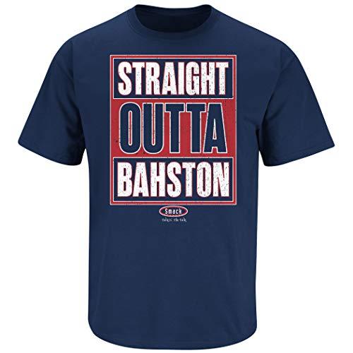 - Boston Baseball Fans. Straight Outta Bahston Navy T-Shirt (Sm-5X) (Short Sleeve, Large)