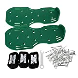 ShapeW Lawn Aerator Spike Shoes,for Effectively Aerating Lawn Soil,Comes with 3 Adjustable Straps with Metallic Buckles,Universal Size That Fits All,for a Greener and Healthier Garden or Yard (Green)