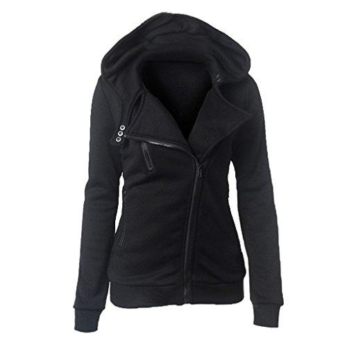 Women Slim fit Zip-up Hoodie Jacket Cardigan 2xl Black