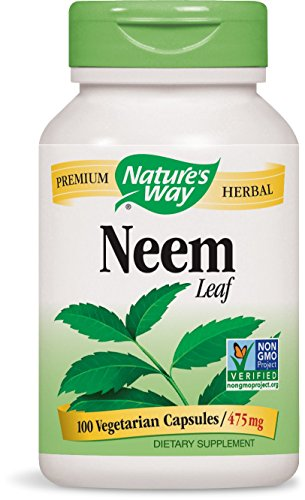 Nature's Way Neem Leaf 475 mg, 100 Vcaps (Damiana Leaves)