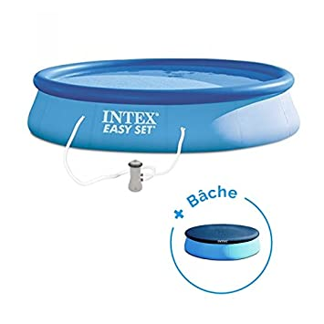 RAVIDAY Pack Piscina autoportée Easy Set Intex 3.96 x 0.84 cm + ...