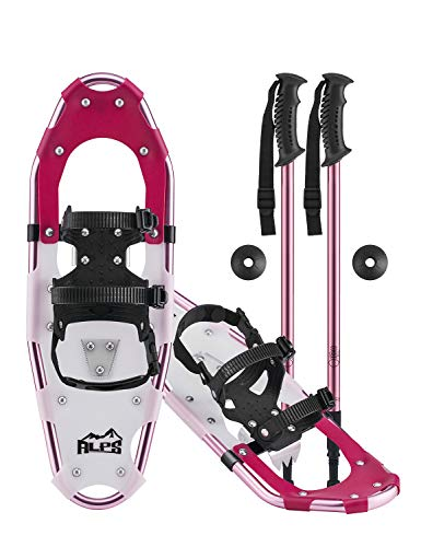 ALPS Adult Lightweight Snowshoes Set for Women,Girls+Trekking Poles 27 with Carrying Tote