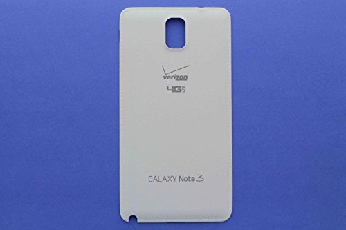 For Samsung Galaxy Note 3 N900V Verizon 4G LTE Back Battery Door Cover - White - All Repair Parts USA (3 Back Cover Battery Door)