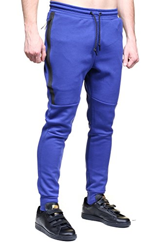 Nike Mens Tech Fleece Sweatpants Game Royal/Black Large