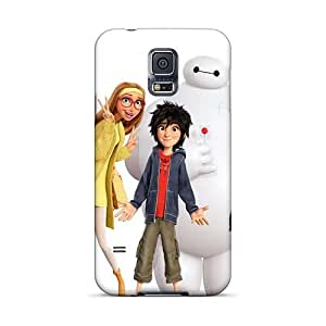 Shock Absorbent Hard Cell-phone Cases For Samsung Galaxy S5 With Unique Design HD Big Hero 6 Skin DannyLCHEUNG
