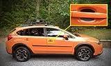Subaru Auto Accessory Door Handle Trim Molding Scratch Cover Guards Carbon Fiber 4 Door Pack