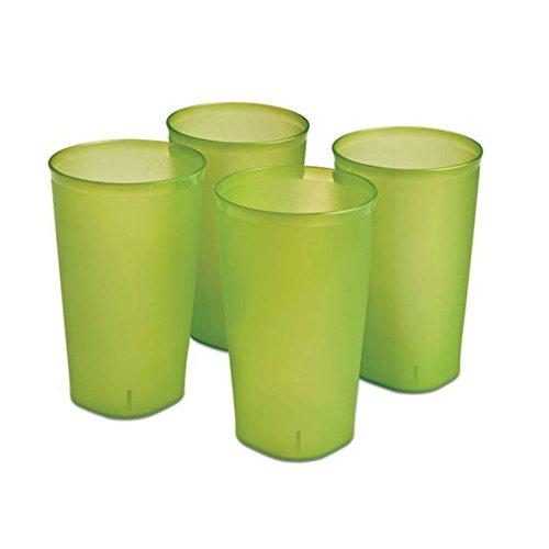 Sterilite Plastic Tumblers Green Glaze