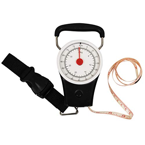 Price comparison product image Heavy Duty Luggage Scale Accurate Easy Reading No Batteries with a Built-in Tape Measure