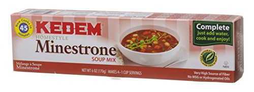 Mix Cello Soup (Kedem Cello Soup Mix, Minestrone Soup Mix, 6-Ounce Packages (Pack of 24))